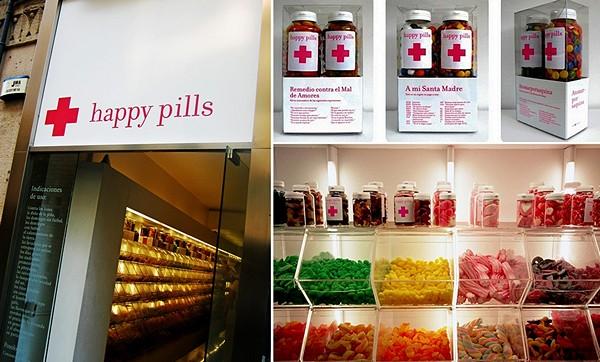 Happy Pill, удивительная испанская аптека, где можно купить таблетки для счастья