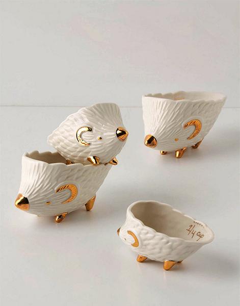 Measuring Hedgies: забавные мерные чашки в виде семейства ежиков