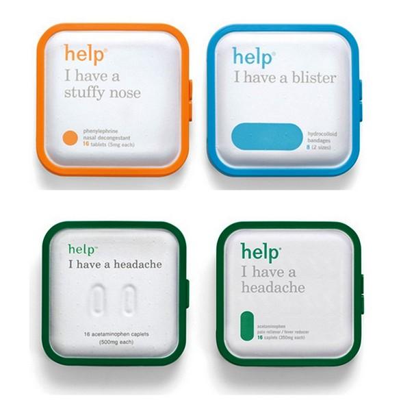Help Remedies, революционная минималистская упаковка для медицинских препаратов