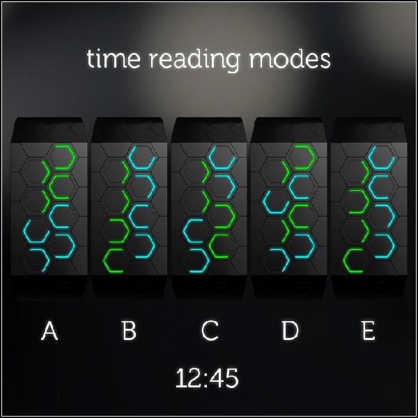 Концептуальные часы Hexagons LED watch, с которыми нелегко не опоздать
