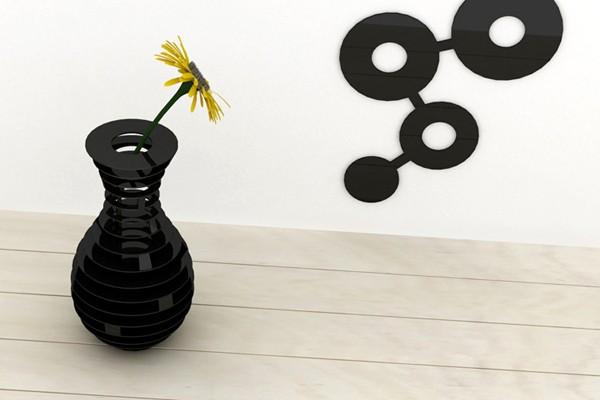 HighRise vase, ваза-трансформер из металлических *бубликов*. Проект студии ThirtyFive Creative Works