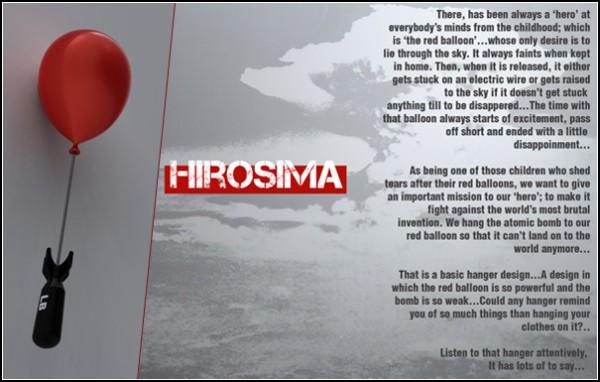 Hiroshima Coat Rack. Мирная и полезная дизайнерская вешалка