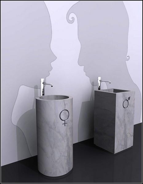 His & Hers sinks. Умывальники для леди и джентльменов