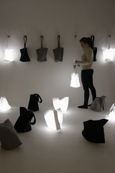 Стильные фетровые сумки-фонари Hobo Lanterns
