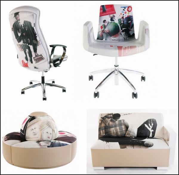 Креативная мебель с принтами. Home Office: в офисе как дома