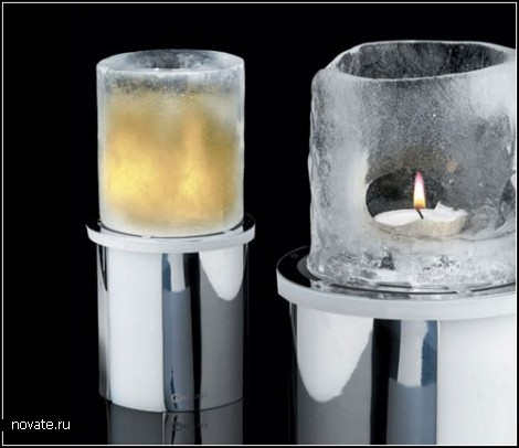 Проект *Ледяная свеча* Ice candle от компании Mathmos