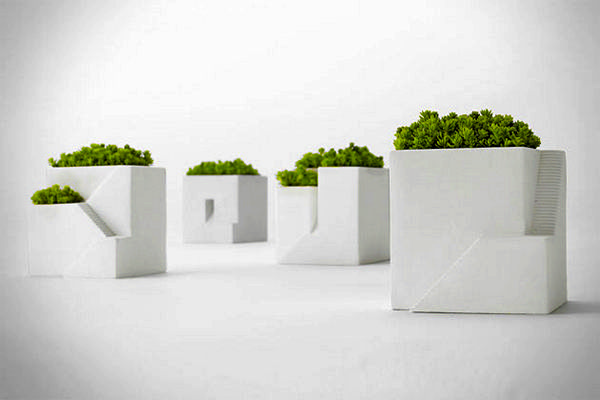 Ienami: горшочки-домики для ландшафтного дизайна