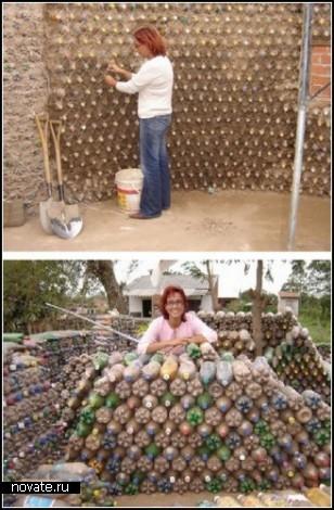Поселок из пустых бутылок. Проект Ingrid Vaca Diez