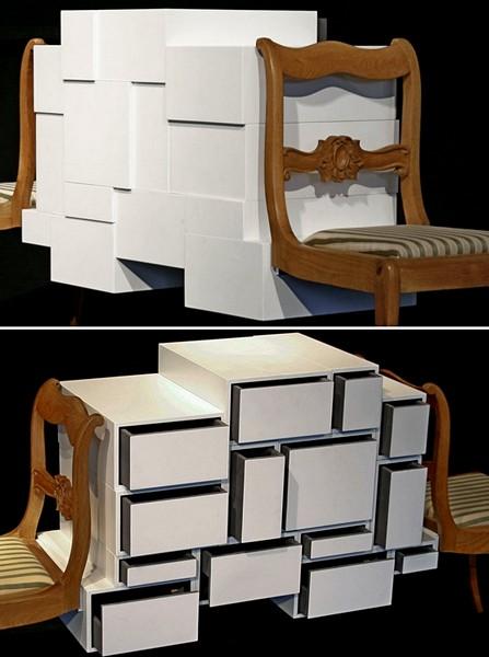 *Нестабильный комод*, мебель Instabil Kommode из антикварных и современных элементов
