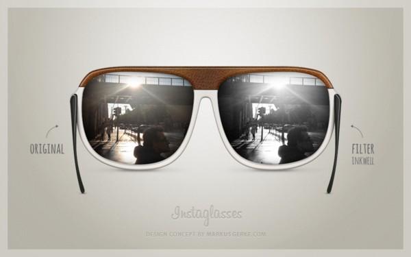 Концептуальные очки Instaglasses для фото в стиле Instagram