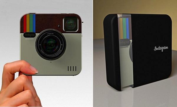 Instagram Socialmatic Camera, концептуальный фотоаппарат от ADR Studio