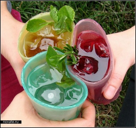 Jelloware. Экологически чистая желейно-желатиновая посуда