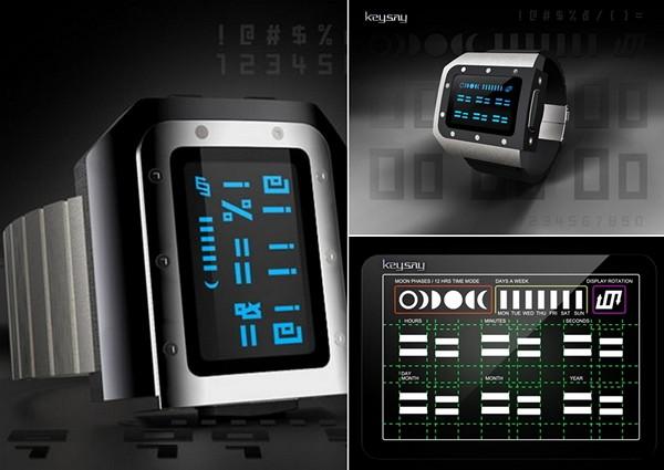 Загадочные часы Keysay watch со значками и символами