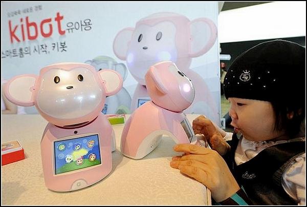 Kibot, робот-обезьянка для детей и их родителей