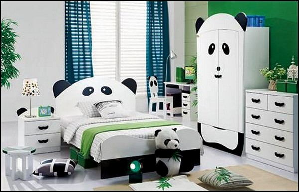 Мебель для детской в панда-стиле