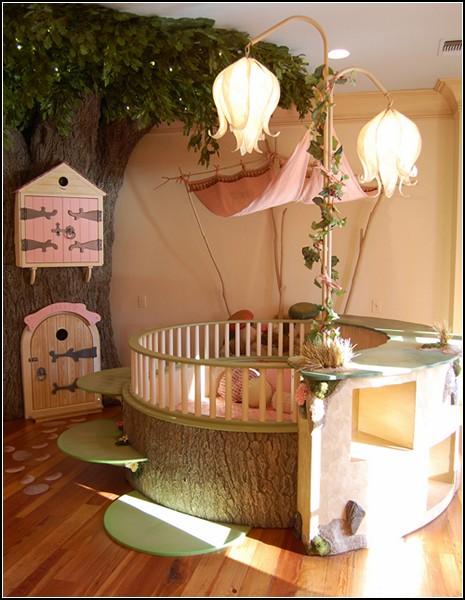 Детская комната в виде лесного царства