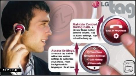 Концепт мини-телефона LG Tag