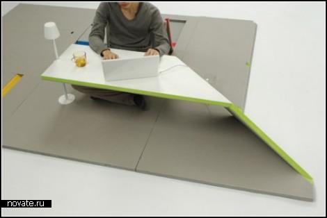 Мебель-*ковер* Land Peel от Shin Yamashita