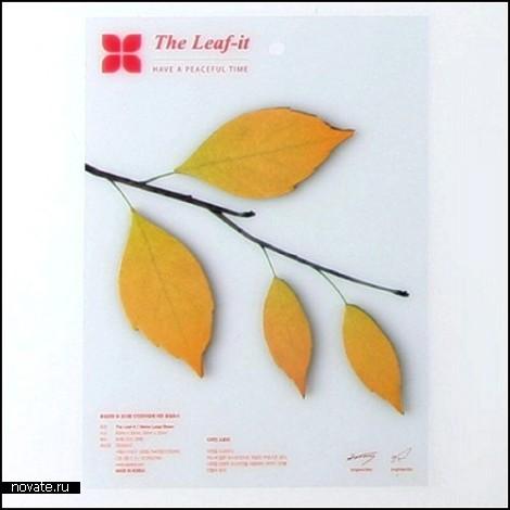 Стикеры-гербарий Leaf-It от Сангву Нама (Sangwoo Nam)