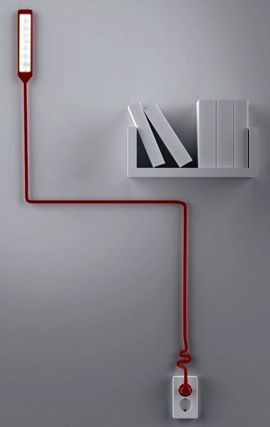 Креативный настенный светильник The Light Ivy с кабелем-аксессуаром