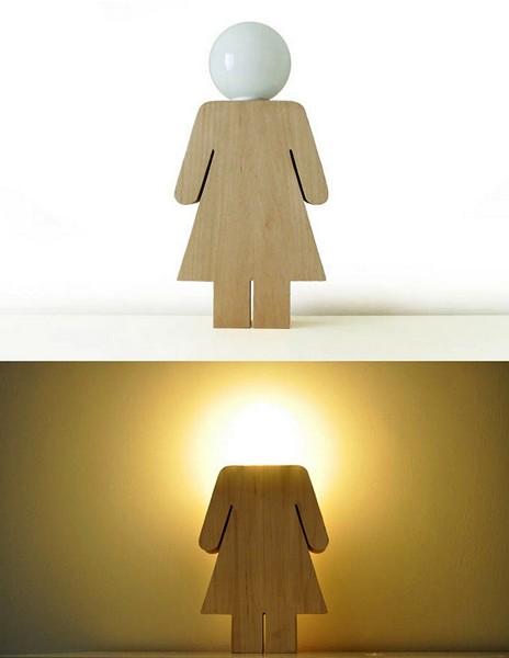 Светильник-девочка Lightgirl от Рикардо Гарса Маркоса