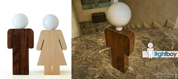Проект из двух фигурок-ночников Lightboy & Lightgirl от Рикардо Гарса Маркоса