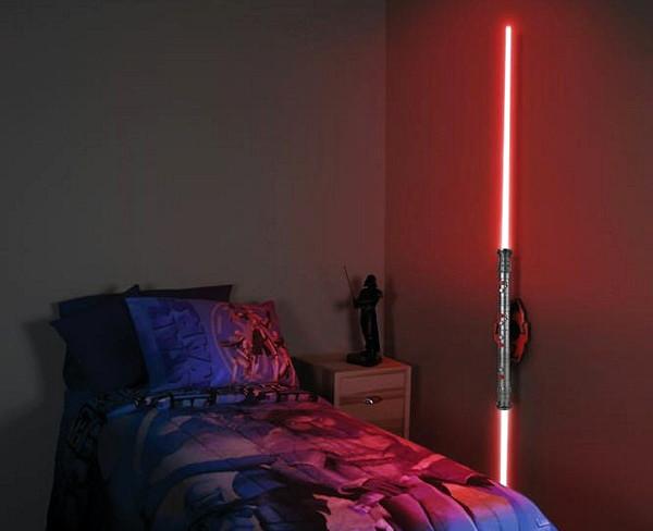 Двухклинковый световой меч Darth Maul Lightsaber как настенная лампа