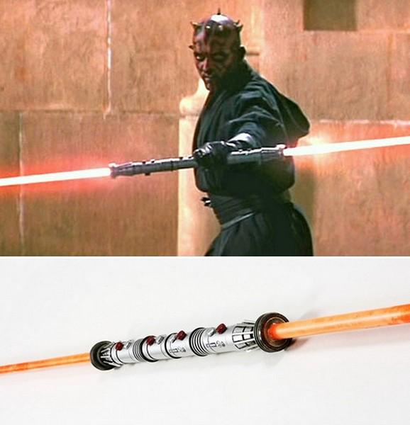 Настенная лампа в виде светового меча для фанатов Star Wars