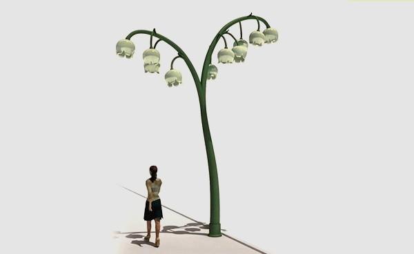 Lily street light, инновационный оригинальный уличный светильник Темболата Гугкаева