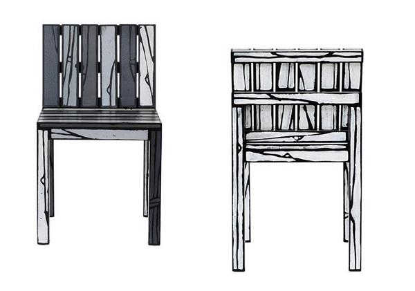 Мультяшные стулья из серии Logo chairs