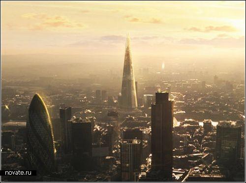 Строительство небоскреба The Shard в Лондоне