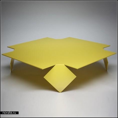 Коллекция стальных столов Manifold. Математическая игра Энтони Леилэнда (Anthony Leyland)