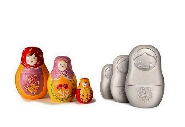Мерные чашки в русском стиле Matryoshka Measuring Cups