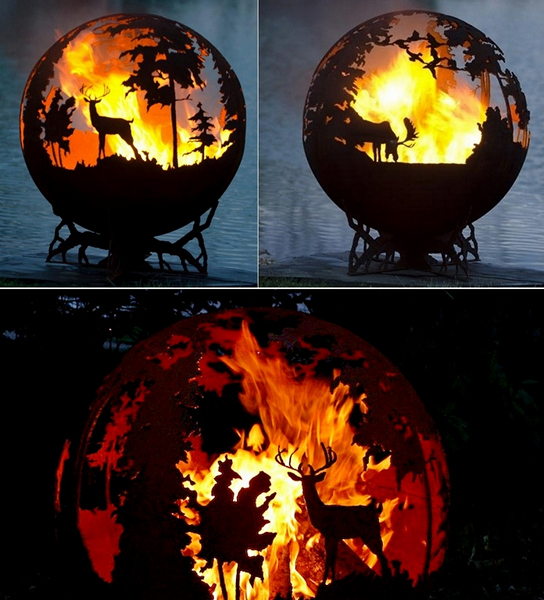 Up North: оригинальные металлические чаши для огня
