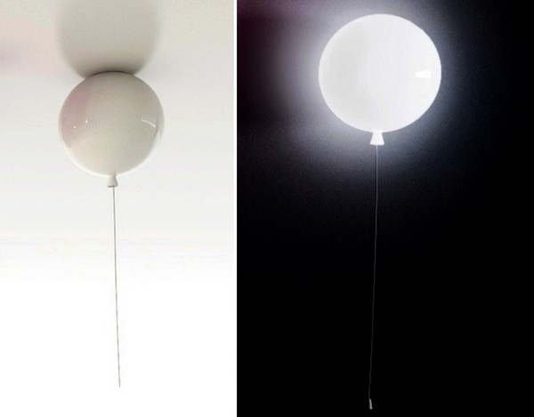 Воздушный шарик, дарующий свет. Концепт светильника Memory Light