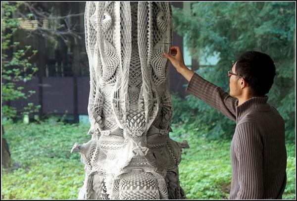Картонные арт-колонны архитектора Михаэля Ансмейера (Michael Hansmeyer)
