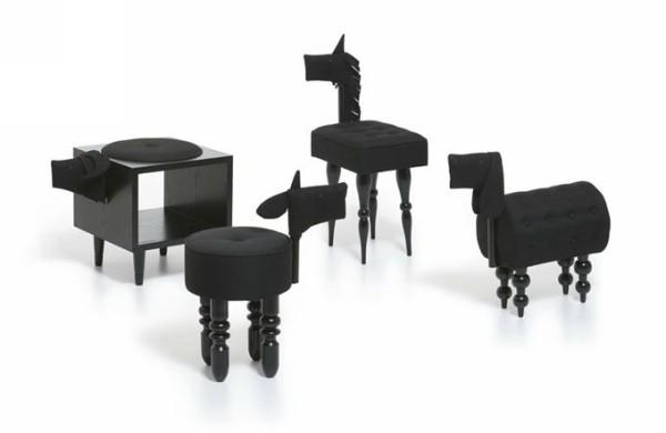 Звериный мебельный гарнитур Animal Chair II-Shadow