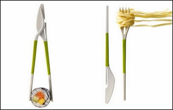 Missing Link. И китайские палочки, и нож с вилкой