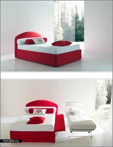Красно-белый диван Modern Sleeper Sofa от Bolzan