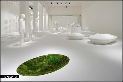 Ковер-инсталляция Moss time от Макото Азума