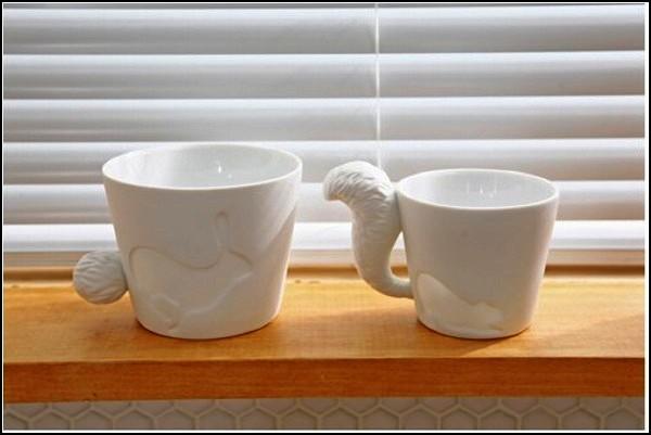 Mugtail Animal Mug, прикольные кружки со звериными хвостами