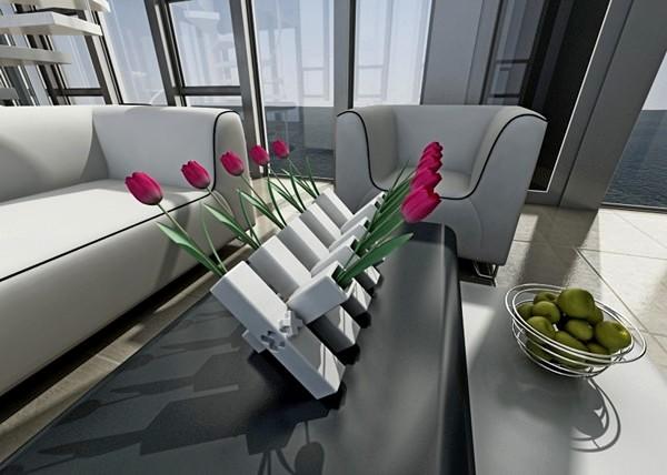 Самодостаточная ваза-конструктор Muipe из элементов-модулей