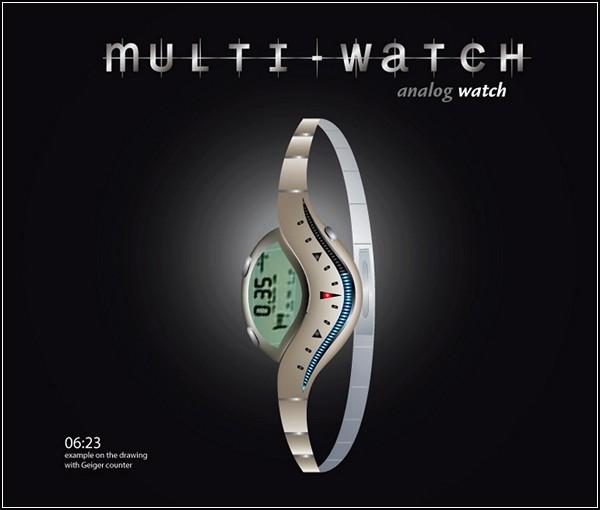 Необычные часы для женщин Multi Watch