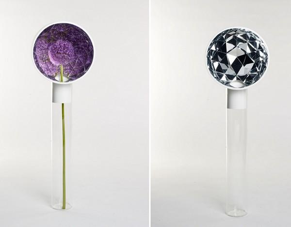 Необычные дизайнерские вазы Narciso vase series с зеркальным покрытием