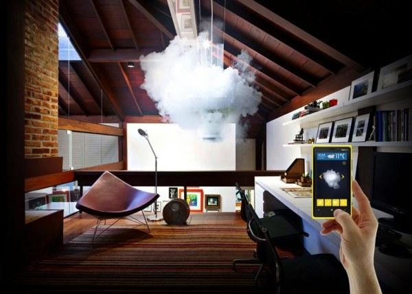 Лампа-метеоролог Nebula 12, концептуальное устройство от Micasa Lab
