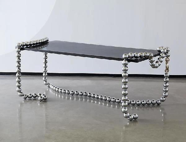 Украшение для интерьера - стол-ожерелье Necklace Table от Mattia Bonetti