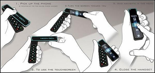 Ротатор Neongen. Телефон из будущего в форм-факторе прошлого