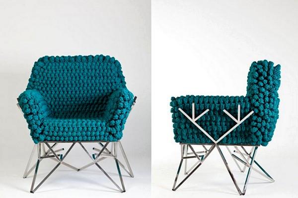 Фрактальні в'язані меблі від Ніколь Томазі