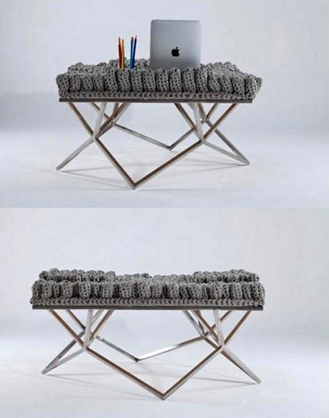 Вязаный стол из Fractal collection