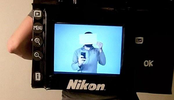 Человек-фотоаппарат Tyler Card и его проект полноценно работающего костюма Nikon D3 Camera Costume